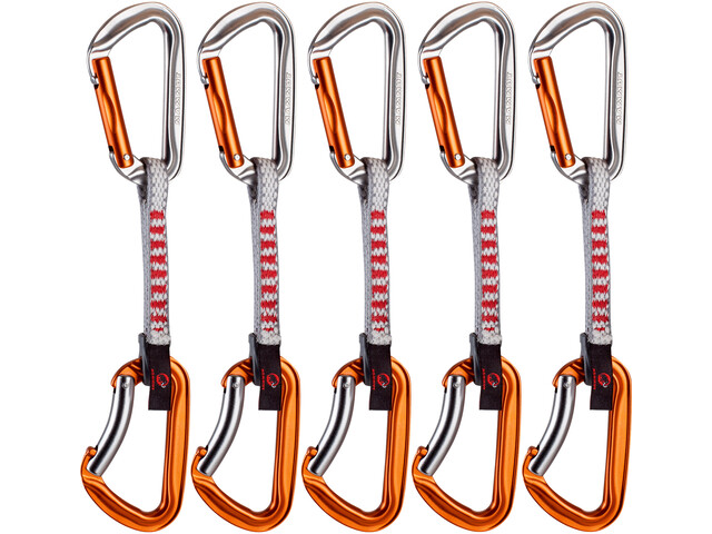 Mammut Wall Key Lock Express Sets Straight Gate/Bent Gate 10cm, silver-orange